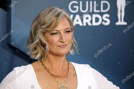 Zoe Bell arrives for the 26th annual Screen Actors Guild Awards ceremony at the Shrine Auditorium in Los Angeles, California, USA, 19 January 2020.