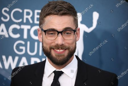 Dustin Milligan arrives for the 26th annual Screen Actors Guild Awards ceremony at the Shrine Auditorium in Los Angeles, California, USA, 19 January 2020.