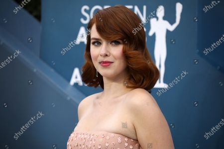 Elizabeth McLaughlin arrives for the 26th annual Screen Actors Guild Awards ceremony at the Shrine Auditorium in Los Angeles, California, USA, 19 January 2020.