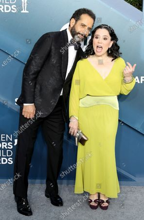 Tony Shalhoub (L) and Alex Borstein arrive for the 26th annual Screen Actors Guild Awards ceremony at the Shrine Auditorium in Los Angeles, California, USA, 19 January 2020.
