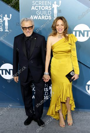 Harvey Keitel (L) and Daphna Kastner arrive for the 26th annual Screen Actors Guild Awards ceremony at the Shrine Auditorium in Los Angeles, California, USA, 19 January 2020.