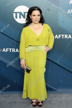 Alex Borstein arrives for the 26th annual Screen Actors Guild Awards ceremony at the Shrine Auditorium in Los Angeles, California, USA, 19 January 2020.