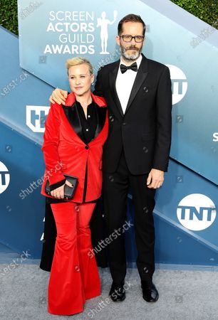 Stock Picture of Patricia Arquette (L) and Eric White arrive for the 26th annual Screen Actors Guild Awards ceremony at the Shrine Auditorium in Los Angeles, California, USA, 19 January 2020.