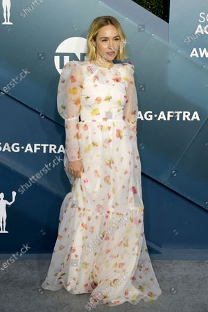 Sarah Goldberg arrives for the 26th annual Screen Actors Guild Awards ceremony at the Shrine Auditorium in Los Angeles, California, USA, 19 January 2020.