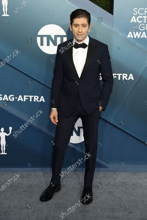 Michael Zegen arrives for the 26th annual Screen Actors Guild Awards ceremony at the Shrine Auditorium in Los Angeles, California, USA, 19 January 2020.