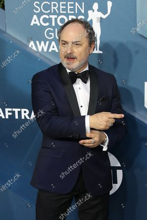 Kevin Pollak arrives for the 26th annual Screen Actors Guild Awards ceremony at the Shrine Auditorium in Los Angeles, California, USA, 19 January 2020.