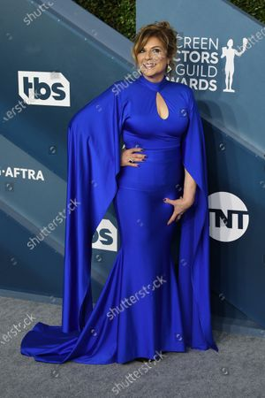Stock Image of Caroline Aaron arrives for the 26th annual Screen Actors Guild Awards ceremony at the Shrine Auditorium in Los Angeles, California, USA, 19 January 2020.