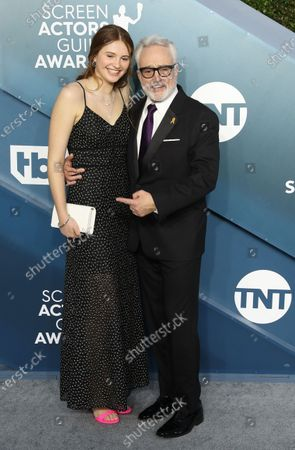 Bradley Whitford (R) and Mary Louisa Whitford arrive for the 26th annual Screen Actors Guild Awards ceremony at the Shrine Auditorium in Los Angeles, California, USA, 19 January 2020.