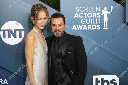Michael Irby (R) and Susan Elena Matus arrive for the 26th annual Screen Actors Guild Awards ceremony at the Shrine Auditorium in Los Angeles, California, USA, 19 January 2020.
