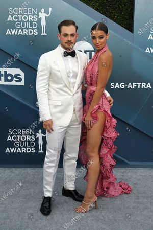 Dacre Montgomery (L) and Liv Pollock arrive for the 26th annual Screen Actors Guild Awards ceremony at the Shrine Auditorium in Los Angeles, California, USA, 19 January 2020.