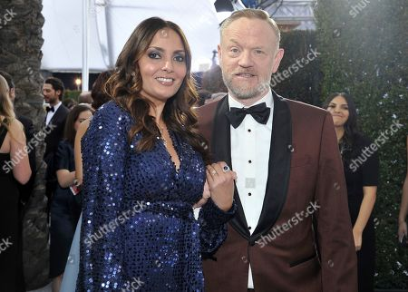 Jared Harris, Allegra Riggio. Allegra Riggio, left, and Jared Harris arrive at the 26th annual Screen Actors Guild Awards at the Shrine Auditorium & Expo Hall, in Los Angeles