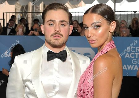 Dacre Montgomery, Liv Pollock. Dacre Montgomery, left, and Liv Pollock arrive at the 26th annual Screen Actors Guild Awards at the Shrine Auditorium & Expo Hall, in Los Angeles