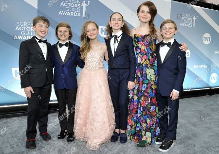 Iain Armitage, Cameron Crovetti, Ivy George, Chloe Coleman, Darby Camp, Nicholas Crovetti. Iain Armitage, from left, Cameron Crovetti, Ivy George, Chloe Coleman, Darby Camp and Nicholas Crovetti arrive at the 26th annual Screen Actors Guild Awards at the Shrine Auditorium & Expo Hall, in Los Angeles