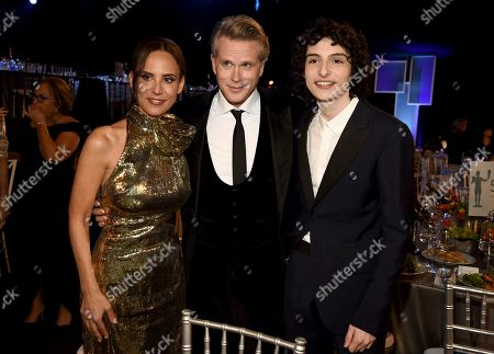 Lisa Marie Kubikoff, Cary Elwes, Finn Wolfhard. Lisa Marie Kubikoff, from left, Cary Elwes, and Finn Wolfhard attend the 26th annual Screen Actors Guild Awards at the Shrine Auditorium & Expo Hall, in Los Angeles