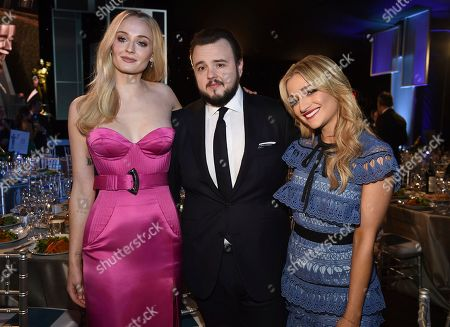 Sophie Turner, John Bradley, Rebecca April May. Sophie Turner, from left, John Bradley, and Rebecca April May attend the 26th annual Screen Actors Guild Awards at the Shrine Auditorium & Expo Hall, in Los Angeles
