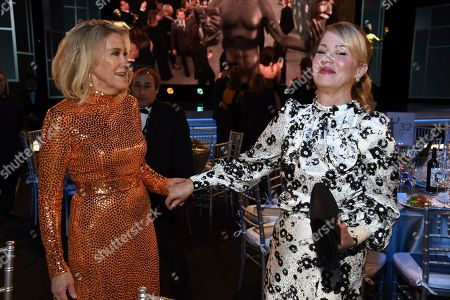 Catherine O'Hara, Christina Applegate. Catherine O'Hara, left, and Christina Applegate attend the 26th annual Screen Actors Guild Awards at the Shrine Auditorium & Expo Hall, in Los Angeles