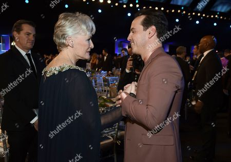 Stock Picture of Glenn Close, Andrew Scott. Glenn Close, left, and Andrew Scott attend the 26th annual Screen Actors Guild Awards at the Shrine Auditorium & Expo Hall, in Los Angeles
