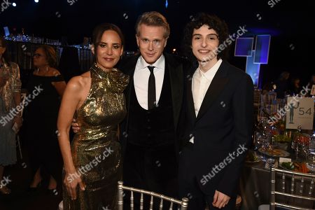 Stock Picture of Lisa Marie Kubikoff, Cary Elwes, Finn Wolfhard. Lisa Marie Kubikoff, from left, Cary Elwes, and Finn Wolfhard attend the 26th annual Screen Actors Guild Awards at the Shrine Auditorium & Expo Hall, in Los Angeles