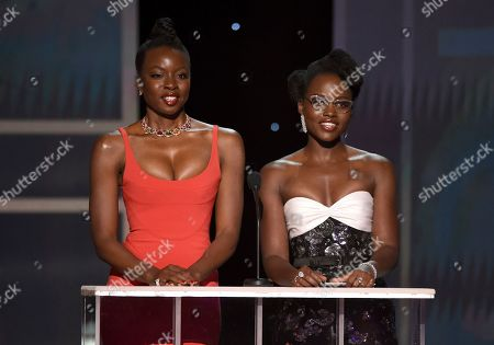 Danai Gurira, Lupita Nyong'o. Danai Gurira, left, and Lupita Nyong'o present the award for outstanding performance by a male actor in a television movie or miniseries at the 26th annual Screen Actors Guild Awards at the Shrine Auditorium & Expo Hall, in Los Angeles