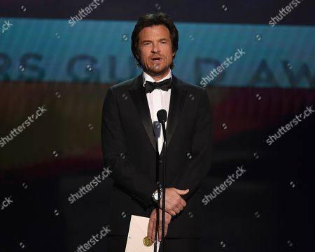Jason Bateman presents the award for outstanding performance by an ensemble in a comedy series at the 26th annual Screen Actors Guild Awards at the Shrine Auditorium & Expo Hall, in Los Angeles