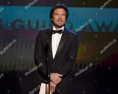 Stock Picture of Jason Bateman presents the award for outstanding performance by an ensemble in a comedy series at the 26th annual Screen Actors Guild Awards at the Shrine Auditorium & Expo Hall, in Los Angeles