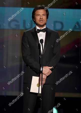 Stock Photo of Jason Bateman presents the award for outstanding performance by an ensemble in a comedy series at the 26th annual Screen Actors Guild Awards at the Shrine Auditorium & Expo Hall, in Los Angeles