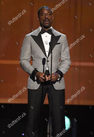 Sterling K. Brown introduces an In Memoriam presentation at the 26th annual Screen Actors Guild Awards at the Shrine Auditorium & Expo Hall, in Los Angeles