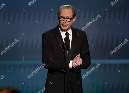Steve Buscemi speaks at the 26th annual Screen Actors Guild Awards at the Shrine Auditorium & Expo Hall, in Los Angeles