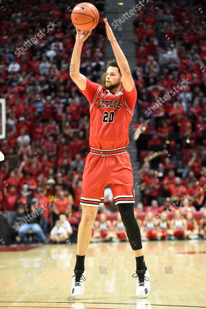 San Diego State guard Jordan Schakel (20) shoots during the second half of an NCAA college basketball game against Nevada, in San Diego. San Diego State won 68-55