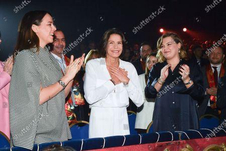 Stock Photo of Pauline Ducruet, Princess Stephanie of Monaco and Camille Marie Kelly Gottlieb