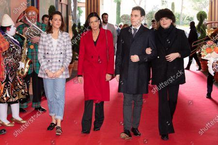 Stock Image of Pauline Ducruet, Princess Stephanie of Monaco, Louis Ducruet and Camille Marie Kelly Gottlieb