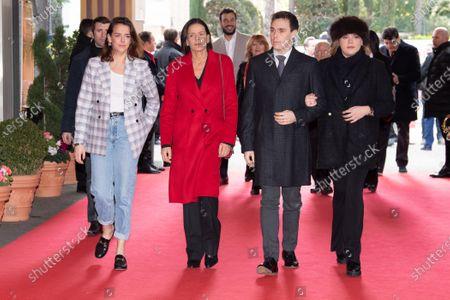 Stock Picture of Pauline Ducruet, Princess Stephanie of Monaco, Louis Ducruet and Camille Marie Kelly Gottlieb
