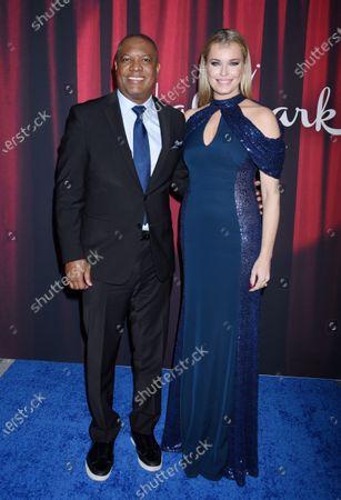 Rodney Peete and Rebecca Romijn