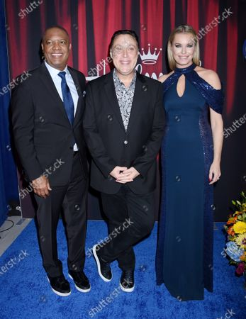 Rodney Peete, Michael Levitt and Rebecca Romijn