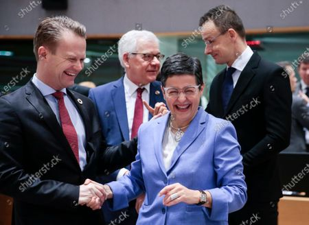 Editorial image of EU Foreign Affairs Council in Brussels, Belgium - 20 Jan 2020