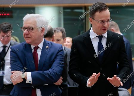 Editorial picture of EU Foreign Affairs Council in Brussels, Belgium - 20 Jan 2020