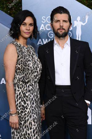 Naomi Scott and Adam Scott