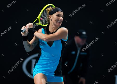 Stock Picture of Svetlana Kuznetsova of Russia in action during her first round match at the 2020 Australian Open Grand Slam tennis tournament