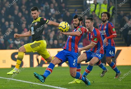 James Tomkins of Crystal Palace clears