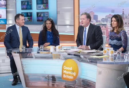 Paul Burrell and Sherelle Jacob with Piers Morgan and Susanna Reid