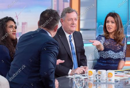 Stock Picture of Paul Burrell and Sherelle Jacob with Piers Morgan and Susanna Reid