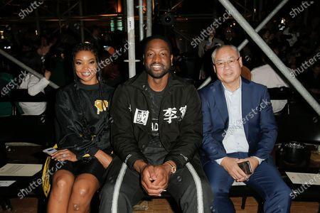 Gabrielle Union, Dwyane Wade and Li Ning