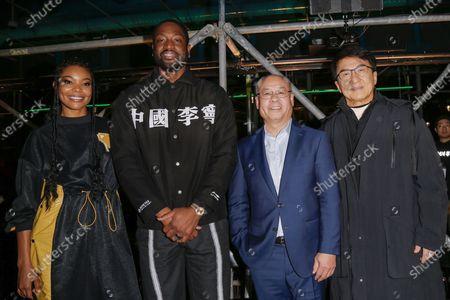 Gabrielle Union, Dwyane Wade, Li Ning and Jackie Chan