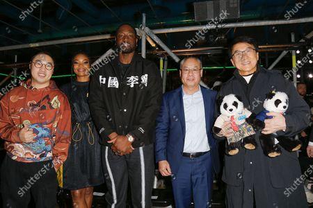 Li Qilin, Gabrielle Union, Dwyane Wade, Li Ning and Jackie Chan