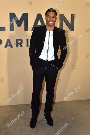 Editorial image of Balmain show, Front Row, Autumn Winter 2020, Paris Fashion Week Men's, France - 17 Jan 2020