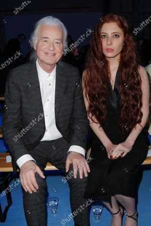 Jimmy Page and Scarlett Sabet