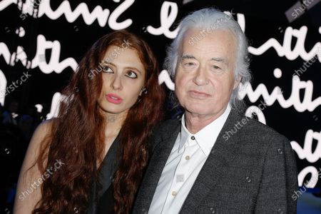 Stock Picture of Scarlett Sabet and Jimmy Page