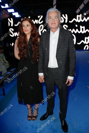 Stock Image of Scarlett Sabet and Jimmy Page