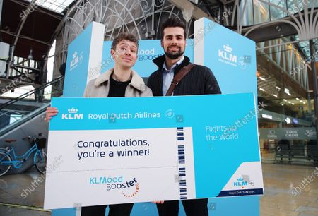 Marcus Parsons wins KLM flights to anywhere in the world with Matt Edmondson