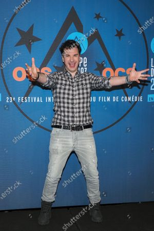 Michael Youn attends the 'Lucky' photocall